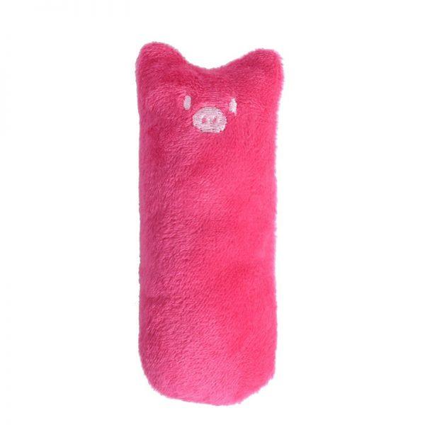 Mini Plush Cat Chew Toy Pink