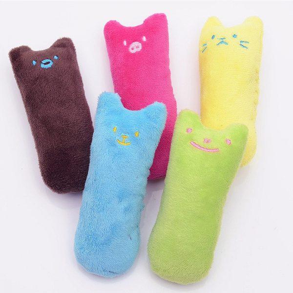 Mini Plush Cat Chew Toy Collection