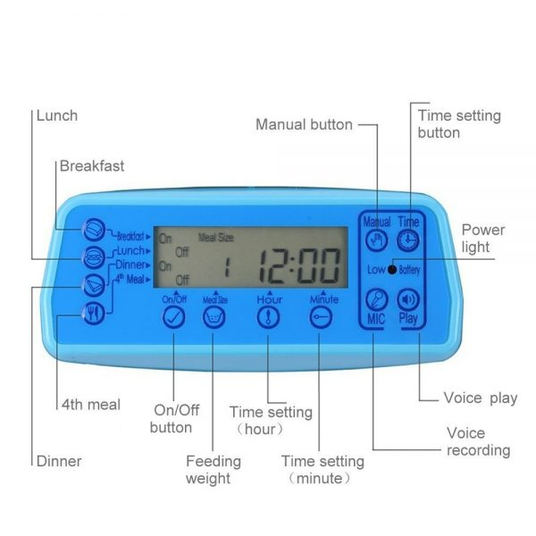 Automatic Pet Feeder lcd display