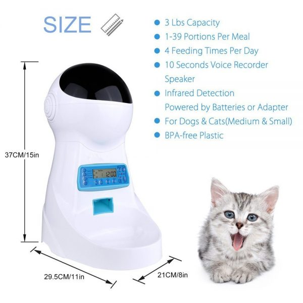 Automatic Pet Feeder size and features