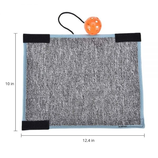 Cat Scratching Board in grey with measurements