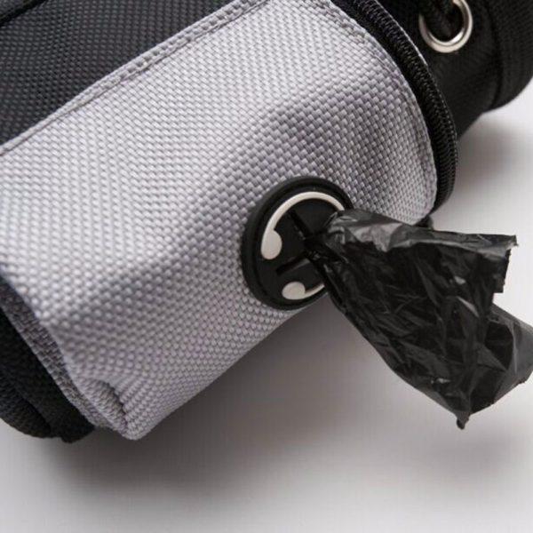 Dog Training Treat Pouch side pocket with dog waste bag hole