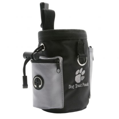 Dog Training Treat Pouch side view of dog waste bag pocket