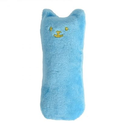 Mini plush chew toy blue