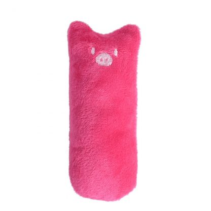 Mini plush chew toy pink