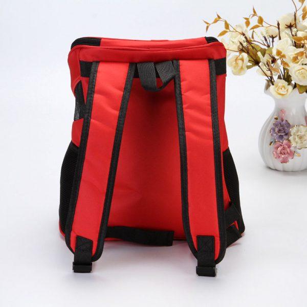 Pet Carrier Backpack Red back side