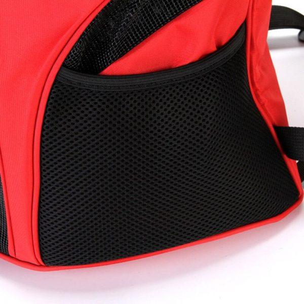 Pet Carrier Backpack Red side pocket