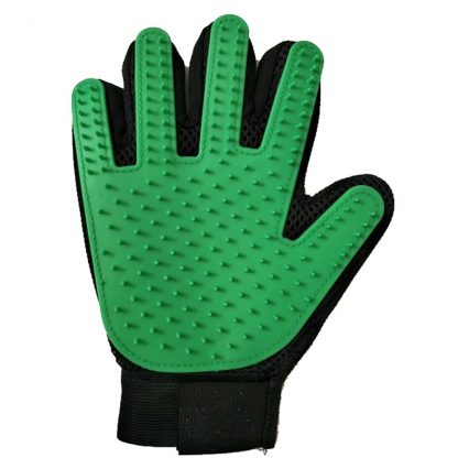 Pet grooming glove green