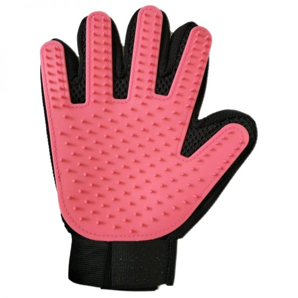 Pet grooming glove pink