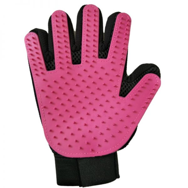 Pet grooming glove purple