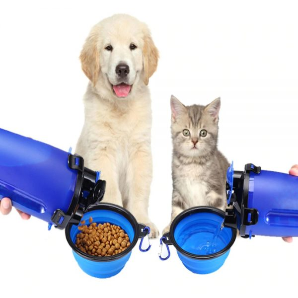 2 in 1 Pet Travel Bottle with Bowl Dog and Cat