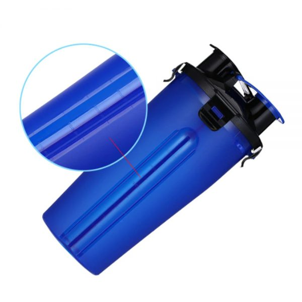 2 in 1 Pet Travel Bottle with Bowl Measurements