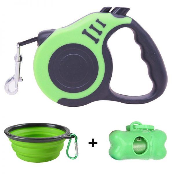 Pawstrip Retractable Dog Leash Bowl Bag Dispenser and Bags