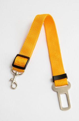 OLN Seat Belt Clip Adjustable Leash Orange