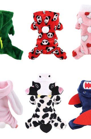 Fleece Dog Jumpsuit Pajamas