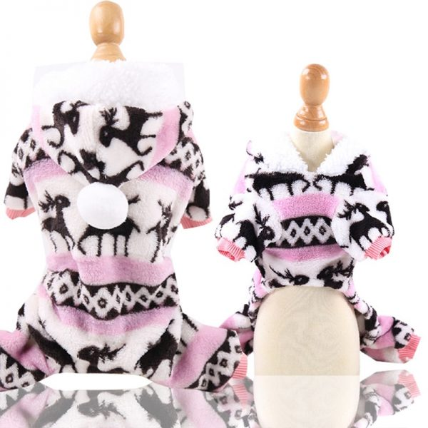 Fleece Dog Jumpsuit Pajamas