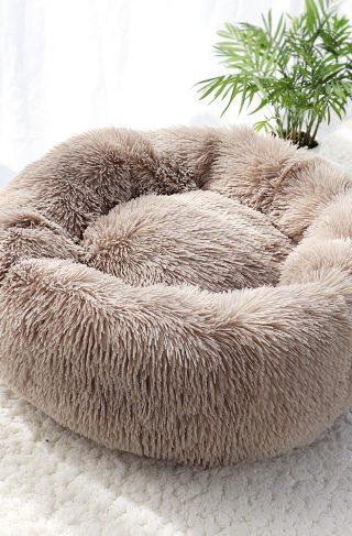 Fluffy Plush Calming Dog Bed