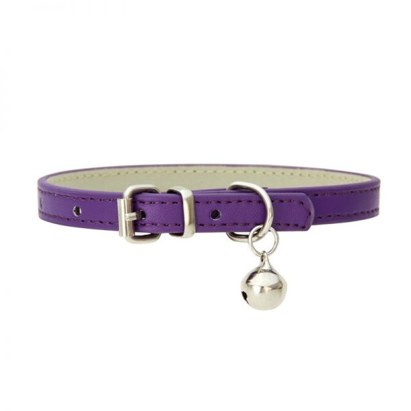 Small Pet Leather Collar with Bell