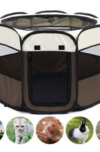 Portable Folding Octagonal Cage Pet Tent