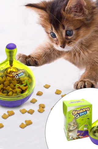 Interactive Cat Toy Tumbler Ball Feeder