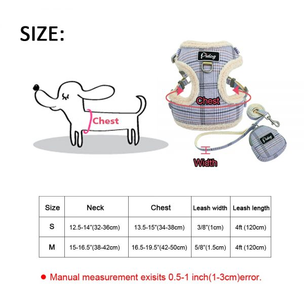 Pidog Dog Harnesses and Leash with Pouch