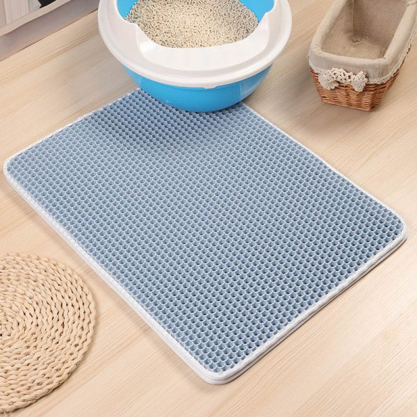 Non Slip Waterproof Double Layer Cat Litter Mat
