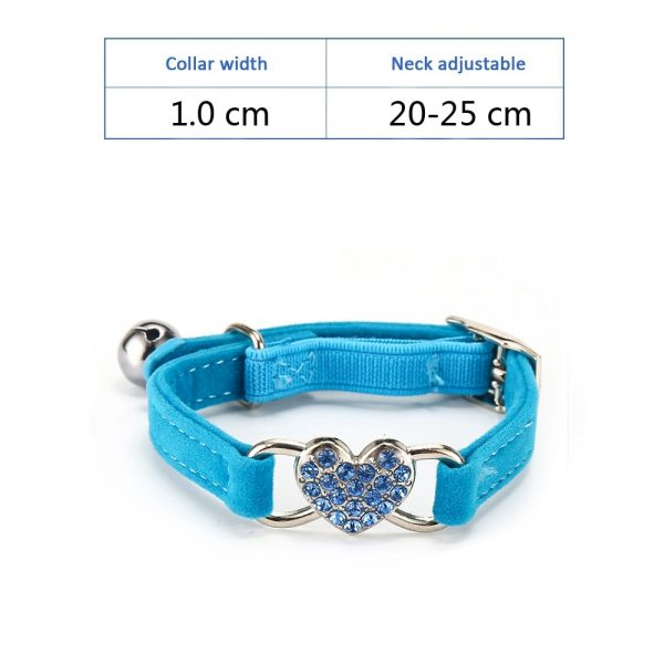 PuppyStar Heart Shape Cat Collar With Bell