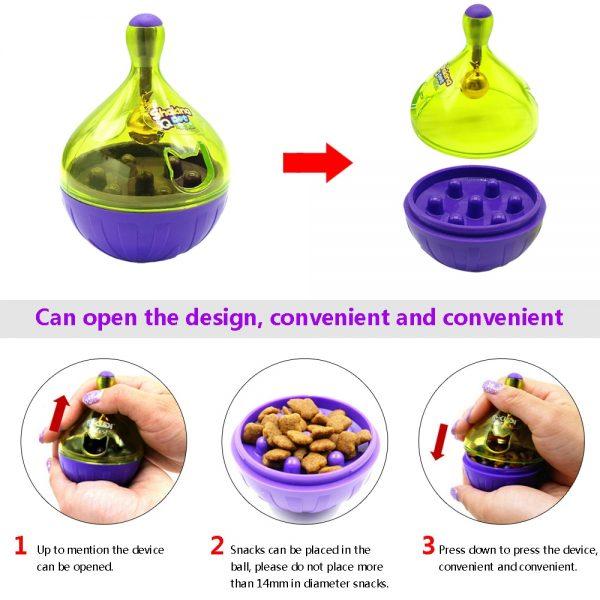 Interactive Cat Toy Tumbler Ball Feeder