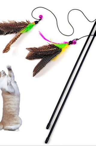 Cat Toy Feather Stick Wand