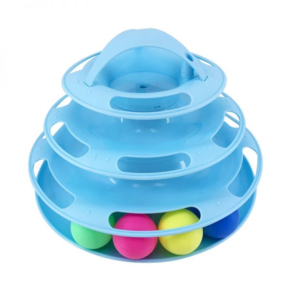 PawStrip Levels Cat Toy Tower Tracks