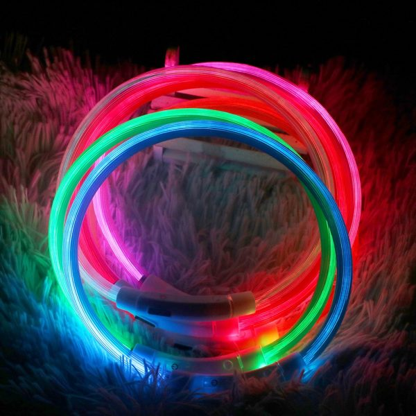 LED Pet Collar USB Rechargeable