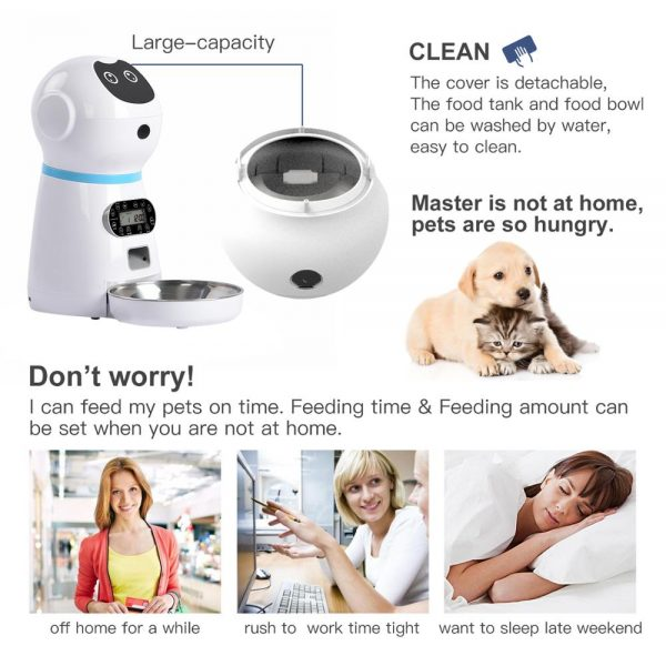 Automatic Pet Feeder with Bowl