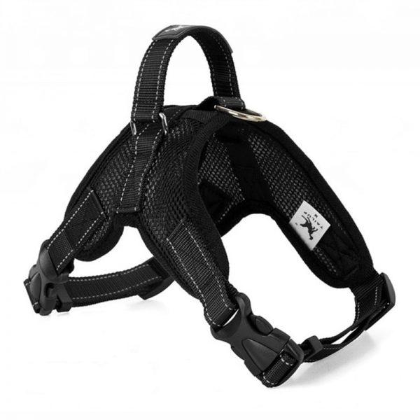 Tailup Mesh Dog Harness Black