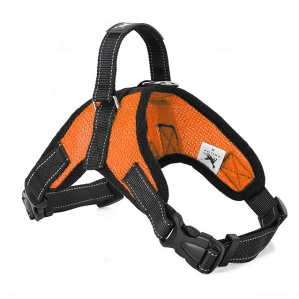 Tailup Mesh Dog Harness Orange