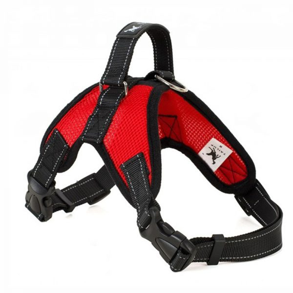 Tailup Mesh Dog Harness Red