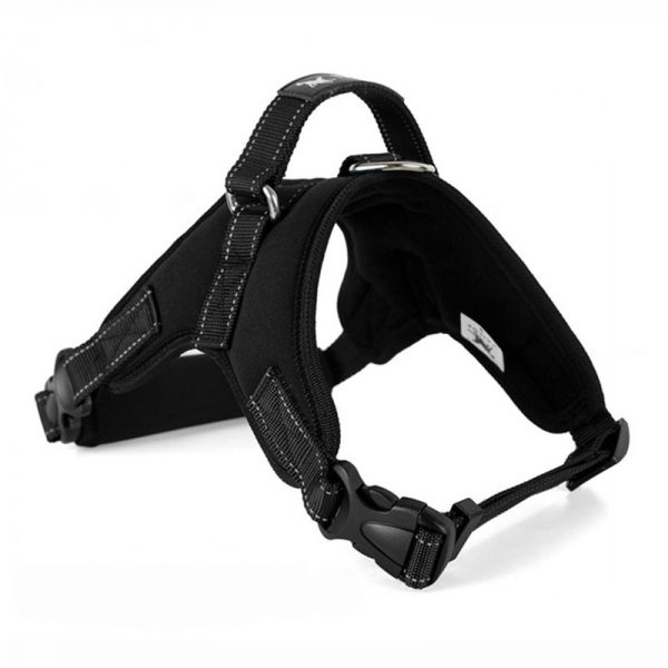 Tailup Neoprene Dog Harness Black