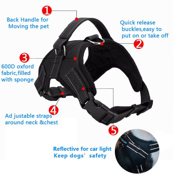 Tailup Neoprene Dog Harness Specifications